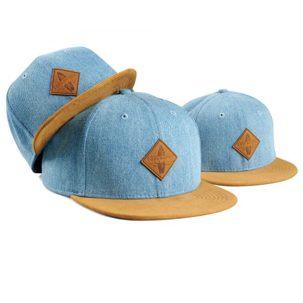 Soulbuddy Family Caps - Set of 3 - light blue, partner look caps, Daddy and me, matching hats, father & son cap, gift for birth, family caps