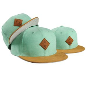 Soulbuddy Family Caps - Set of 3 - mint green, Partner Look Caps, Daddy and me, matching hats, Father & Son Cap, Gift for Birth, Family Caps